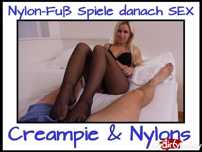 - Nylon Fick + Nylon Footjob + Creampie