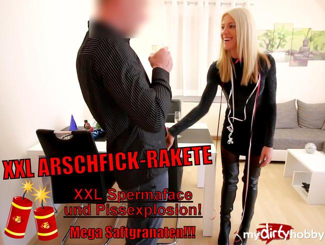 Daynia - XXL Arschfick-Rakete mit Spermakracher + Sektexplosion!