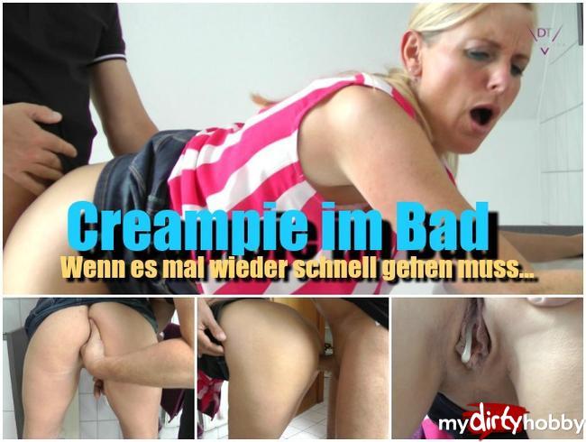 - Creampie im Bad
