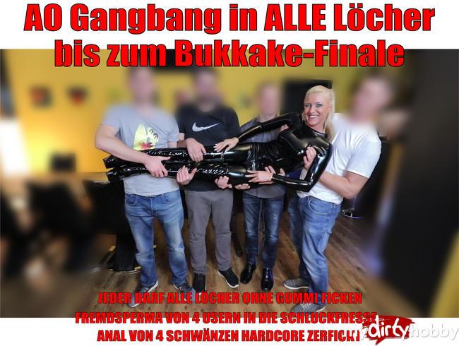 - Bukkake Finale nach Hardcore 3Loch-Gangbang!