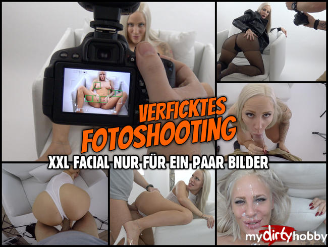 - BEINE BREIT für ein verficktes Foto Shooting | XXL Facial nur für ein paar Bilder