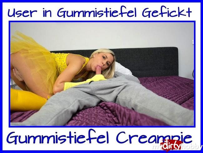 - User Creampie Fick in Gummistiefel