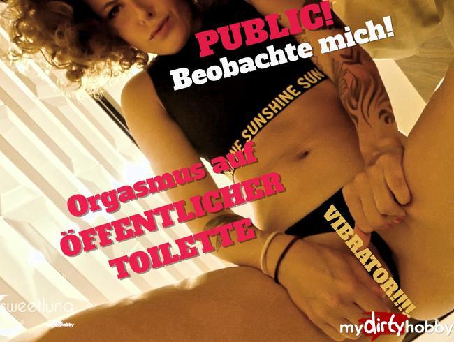 - Beobachte mich! Orgasmus auf der öffentlichen Toilette