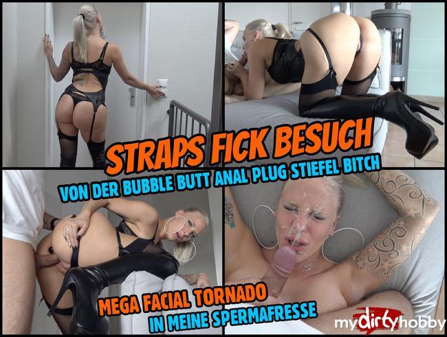 - STRAPS FICK BESUCH | Mega Facial für die BubbleButt Bitch