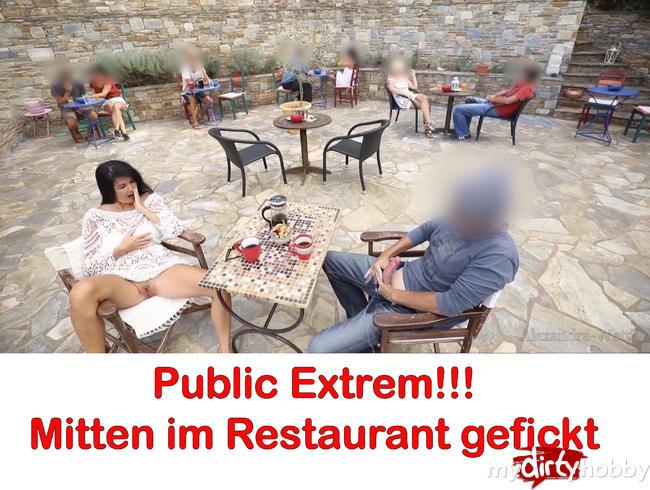 - Publik extrem! Mitten im Restaurant gefickt!!!