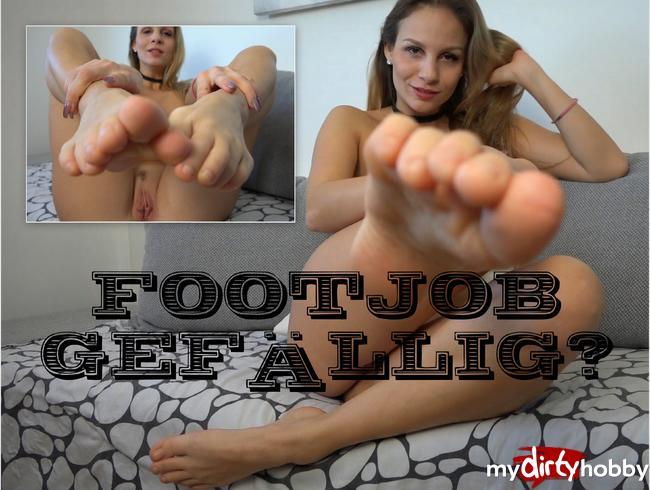 - Footjob gefällig?