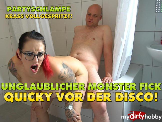 - Unglaublicher Monster Fick Quicky vor der Disco! Partyschlampe krass Vollgewixxt!
