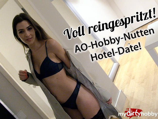 MaryHaze - Voll REIN GESPRITZT! Hobbynutte fickt blank beim Hoteldate!
