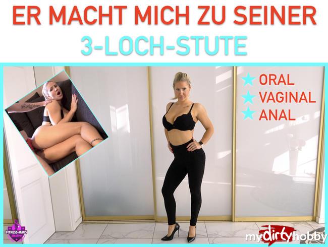 Fitness-Maus - ER MACHT MICH ZU SEINER 3-LOCH-STUTE!