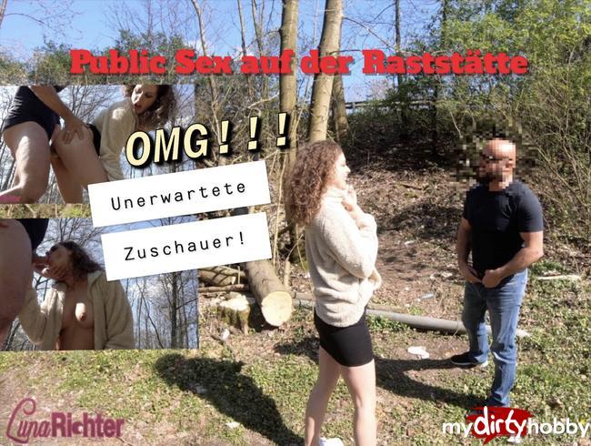 - Public Sex auf dem Autobahn-Rastplatz-OMG!!! Unerwartete Zuschauer beim Ficken!