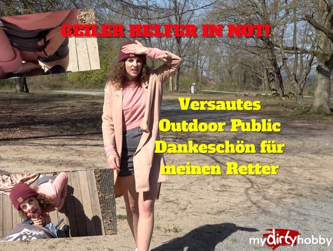 - Geiler Helfer in Not! Outdoor Public Vergnügen für meinen Retter!