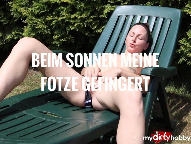 - BEIM SONNEN GEIL GEWORDEN UND GEFINGERT