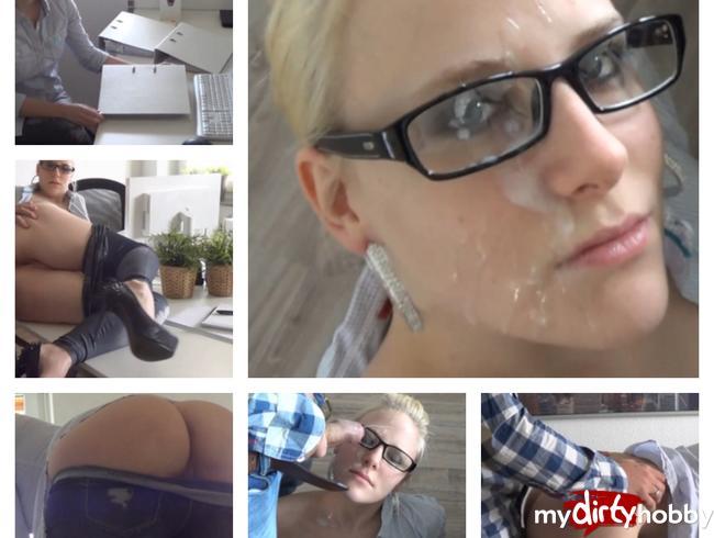 - Chef hat mich im Büro benutzt und auf Brille gespritzt